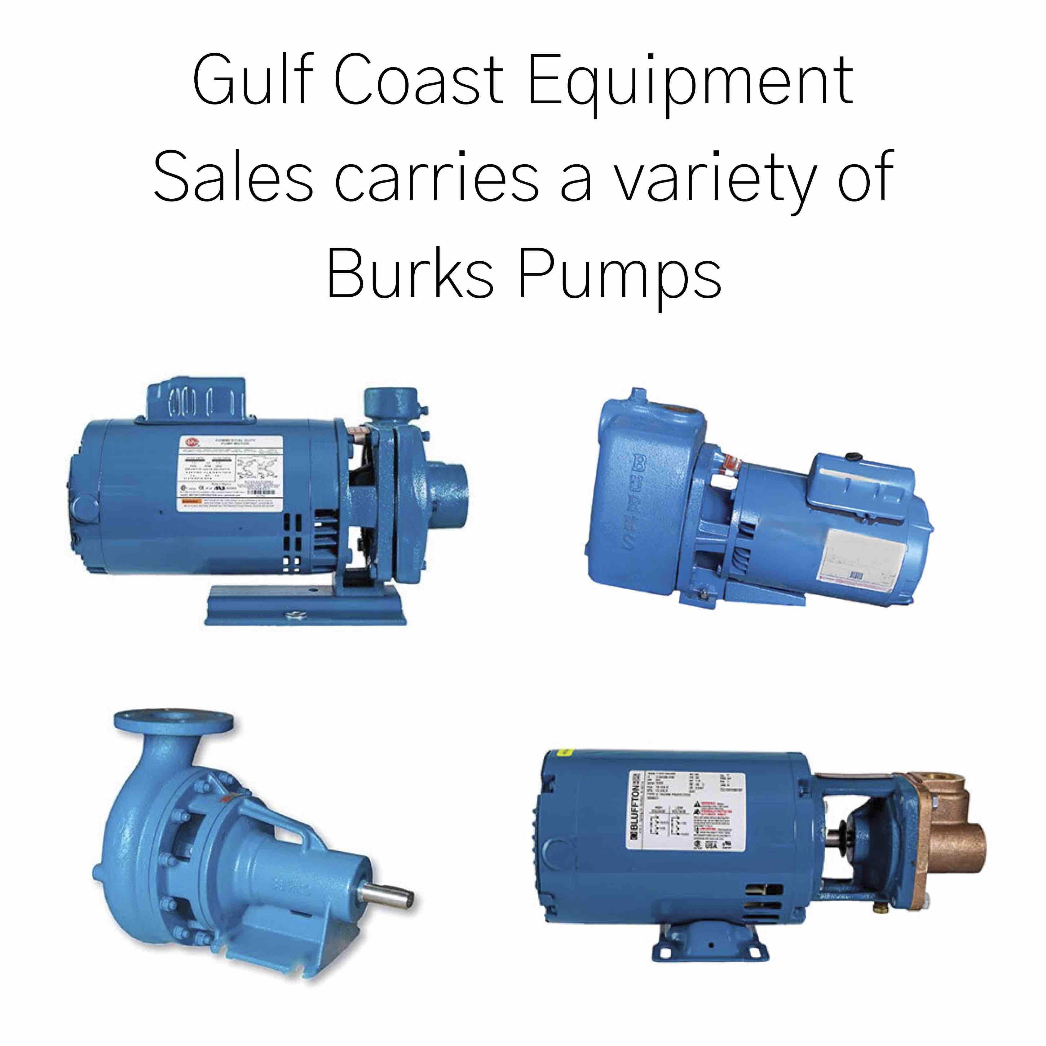 gulf coast equipment sales burks pumps blue